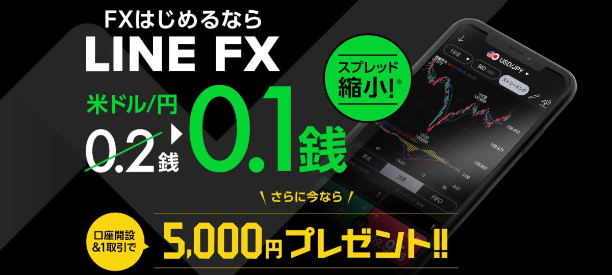 【国内FX】LINEFXの新規口座開設&1取引するだけで5,000円もらえます